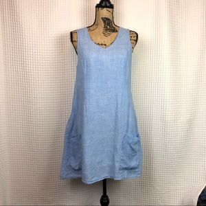 Kenar 100% Linen Midi Dress Size 8